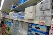 ティッシュなどの原料となる北米産パルプの1月積み対日価格は横ばいだった