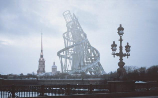 映像制作:長倉威彦「ウラジーミル・タトリン、第3インターナショナル記念塔」=CG映像 1998年