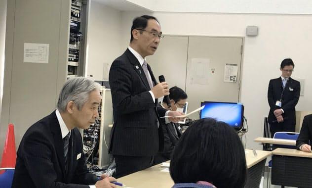 対策本部会議で訓示する大野知事(27日、さいたま市)