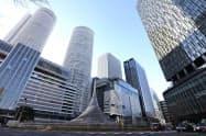 名古屋駅前の高層ビル群