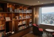 高層階の眺望とともに約1000冊を閲読できる「タワーライブラリー」(北九州市)