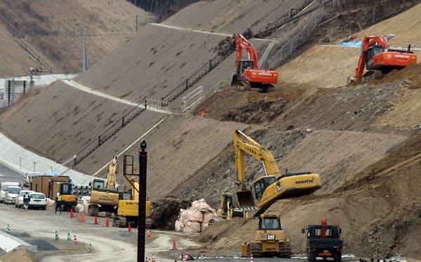 国直轄の公共工事について3月15日まで一時中止する