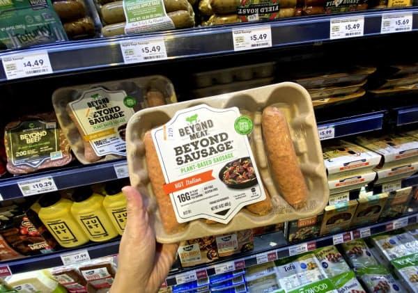 ビヨンド・ミートは2019年の売り上げ規模が前年の3.4倍になった(米カリフォルニア州のスーパー)