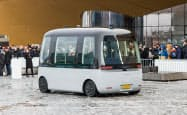 センシブルフォーがヘルシンキで公開した自動運転バス「GACHA」