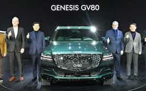 高級車ブランド「ジェネシス」から1月に発売した人気SUVも生産が止まった=現代自動車提供