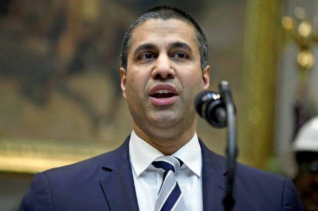 アジット・パイ委員長(写真)率いる米連邦通信委員会(FCC)は、米通信大手の位置情報の扱いを問題視している=AP