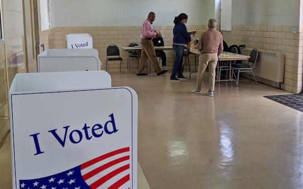米サウスカロライナ州コロンビアの投票所には多くの黒人有権者が訪れた
