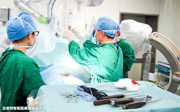 臨床試験では手術時間を従来より1時間短くすることができた(鑫君特智能医療器械提供)