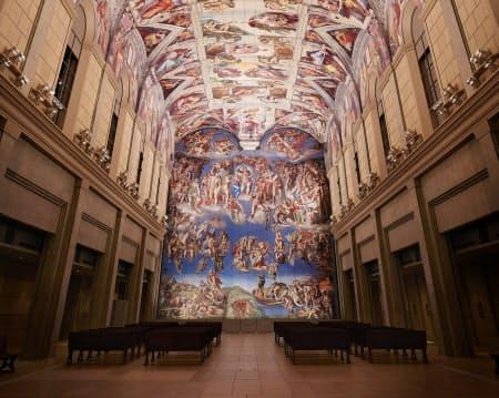 バチカン市国のシスティーナ礼拝堂を再現した空間もある(大塚国際美術館)