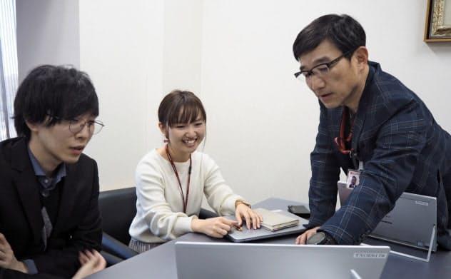 千葉興業銀行は本部行員はオフィスカジュアルで勤務している(2月)