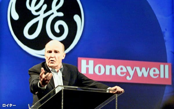 ウェルチ氏は1981年から約20年にわたってGE会長を務めた(2000年10月)=ロイター