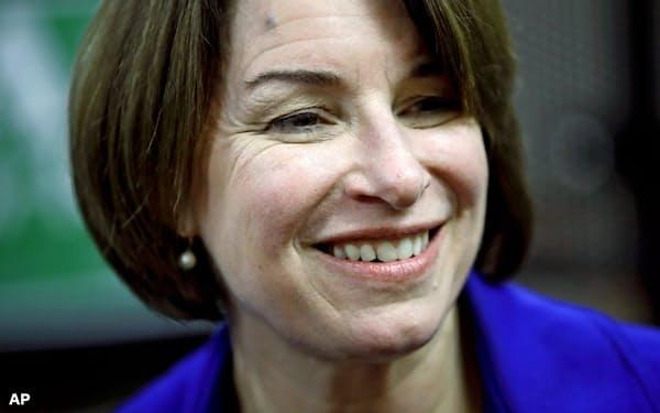 クロブシャー上院議員は大統領選の民主党候補指名争いから撤退する=AP