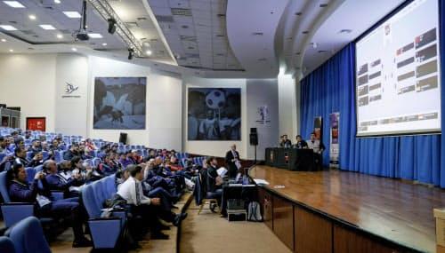アンマンで行われた、ボクシングの東京五輪アジア・オセアニア予選の組み合わせ抽選(2日)=共同