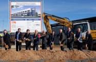 新工場は2021年11月に稼働予定(2日の起工式)