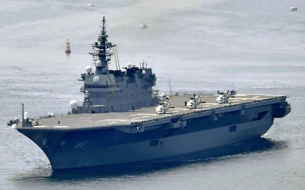 海上自衛隊の護衛艦「いずも」=共同