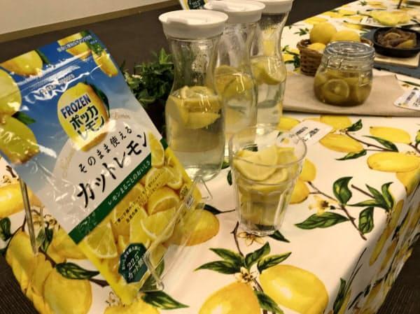 飲料食品事業ではレモンサワーなどの飲み物や料理向けに冷凍カットレモンを売り出すなどレモン関連に力を入れる