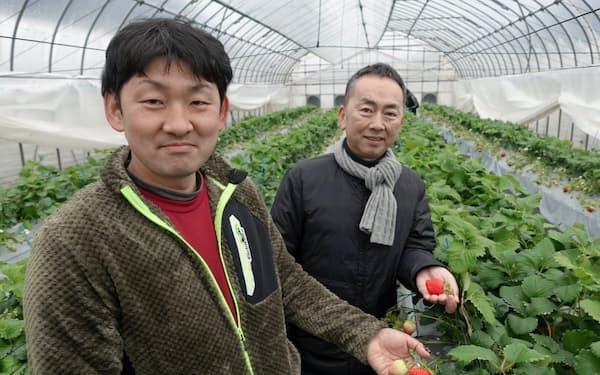 とっておきを生産する井上氏(左)と地域商社の田賀氏