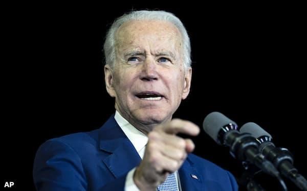3日の米民主党予備選ではバイデン前副大統領が躍進を果たした(カリフォルニア州)=AP