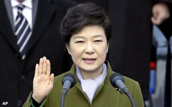 収賄罪などに問われてソウル拘置所に収容されている韓国の朴槿恵(パク・クネ)前大統領=AP