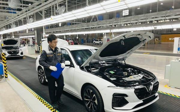 ビングループは2019年6月から自動車生産を始めた(ベトナム北部ハイフォン市)