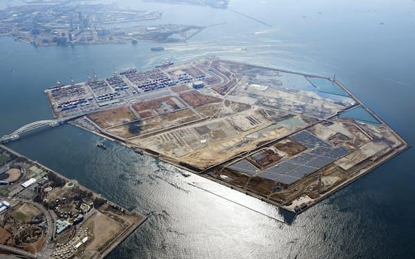 2025年国際博覧会(大阪・関西万博)の会場になると予定されている人工島・夢洲(大阪市)