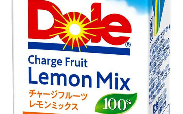 雪印メグミルクが24日に発売する果汁飲料「ドール チャージフルーツレモンミックス100%」