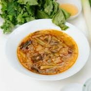 麻辣春雨スープには「醤油もろみ」も使用した