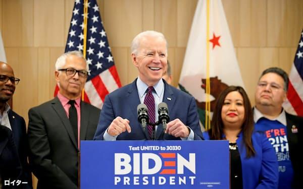 米民主党の大統領候補の指名争いで躍進したバイデン前副大統領=ロイター