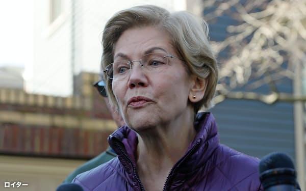 米大統領選の民主党候補指名争いで撤退を表明したエリザベス・ウォーレン上院議員(米マサチューセッツ州ケンブリッジ)=ロイター