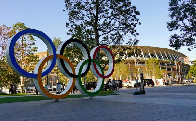 東京オリンピックの開幕を待つ新国立競技場