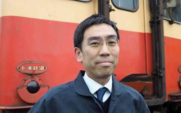 小湊鉄道社長の石川晋平さん