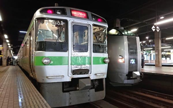 ドル箱の「快速エアポート」も2月は1割減った(札幌駅)