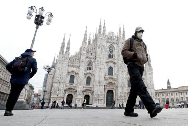 イタリアの感染者数は欧州で最多となっている(ミラノ)=ロイター
