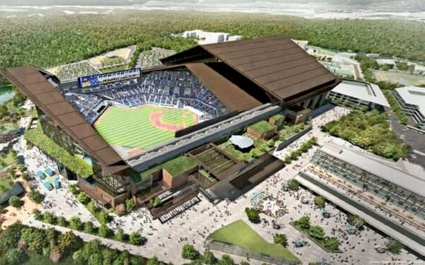 日ハム新球場は23年に開業する(イメージ)