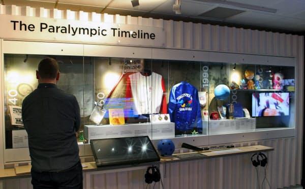 ナショナル・パラリンピック・ヘリテージ・センターには様々な品が展示されている