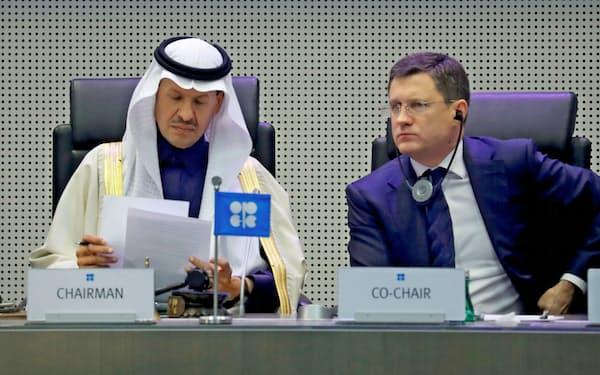 OPECとロシアなど非加盟国は減産で足並みがそろわない=ロイター