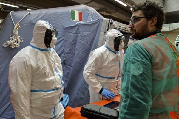 イタリアでは医師不足が深刻化している(北部トリノの病院)=AP