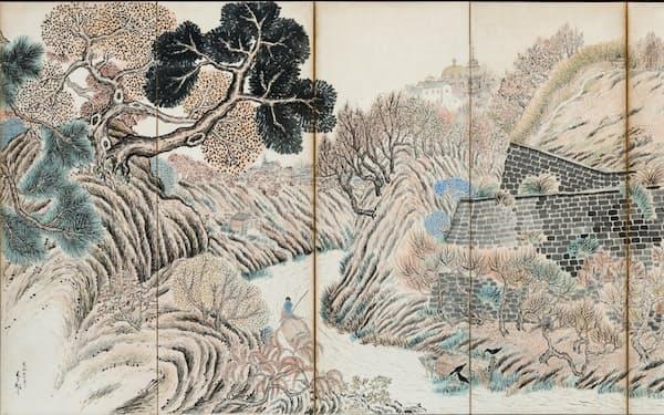 津田青楓「お茶の水風景」(1918年、京都市美術館蔵) (C)Rieko Takahashi