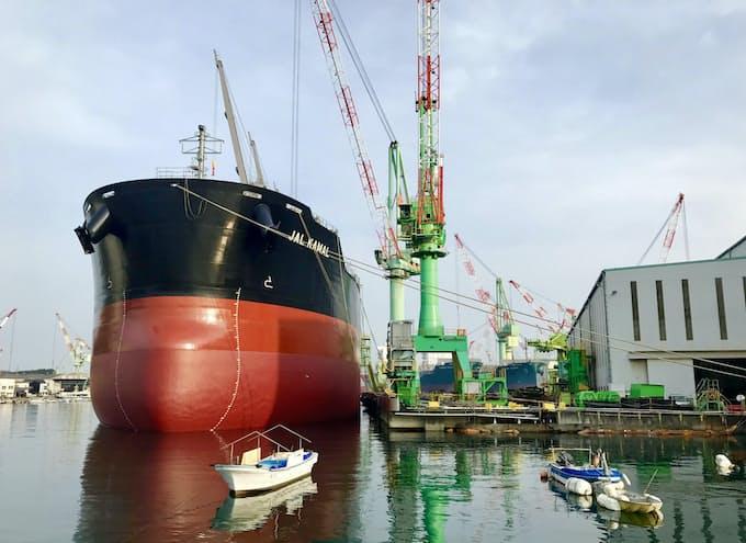 2月末の船舶受注残1800万総トン割れ 20年ぶり低水準: 日本経済新聞