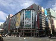 三越伊勢丹HDは首都圏6店舗で時短営業を続ける(東京都中央区の三越銀座店)