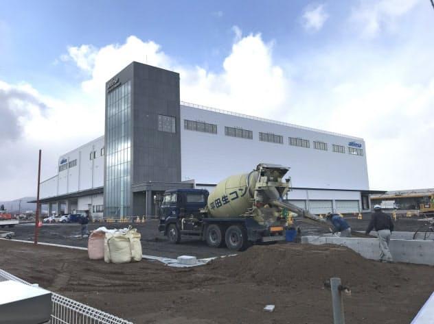 東北アルフレッサが建設中の物流センターは多様な防災機能を備える(福島県郡山市)