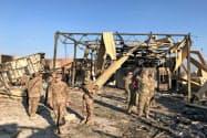 イランの弾道ミサイルを撃ち込まれたイラクのアサド空軍基地には米軍も駐留(1月13日)=ロイター