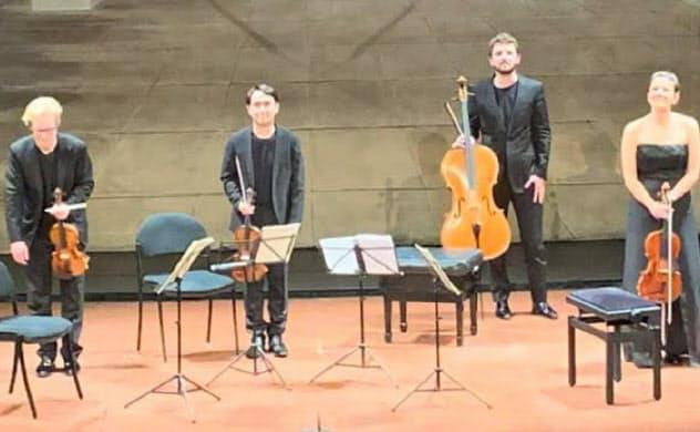 数々のコンクールで成果を上げているマルメン四重奏団(左から2番目がゴウ理紀也)=第一生命ホール提供
