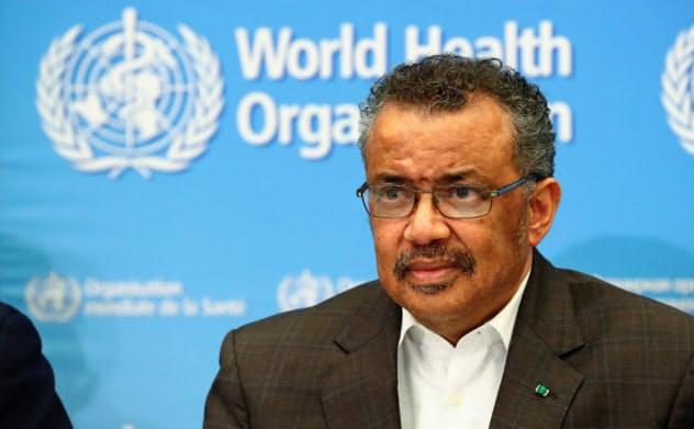 WHOのテドロス事務局長はパンデミックの加速を懸念する=ロイター