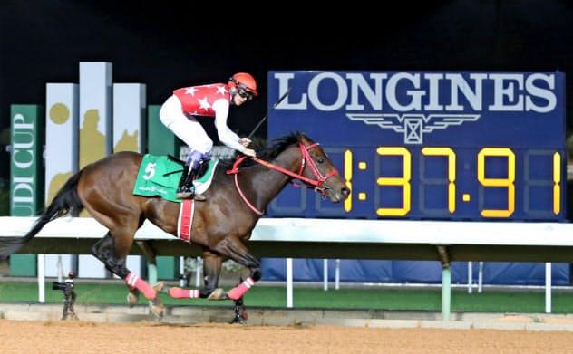 フルフラットは日本調教馬としてサウジで初勝利=ロイター