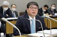 電事連会長に九州電力の池辺社長が就いた(13日、東京都内)