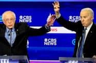新型コロナウイルスは米民主党の大統領候補指名争いに影を落とす=ロイター