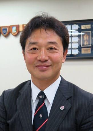 日本ラグビー協会の岩渕健輔専務理事