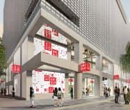 5月に東京・銀座で開業予定の「UNIQLO TOKYO」はブランド発信の拠点とする(イメージ)