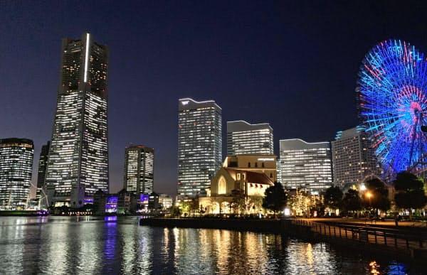オフィスや観光施設の集積が進んだ(横浜市)